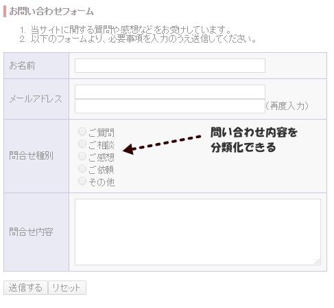 フォームメール