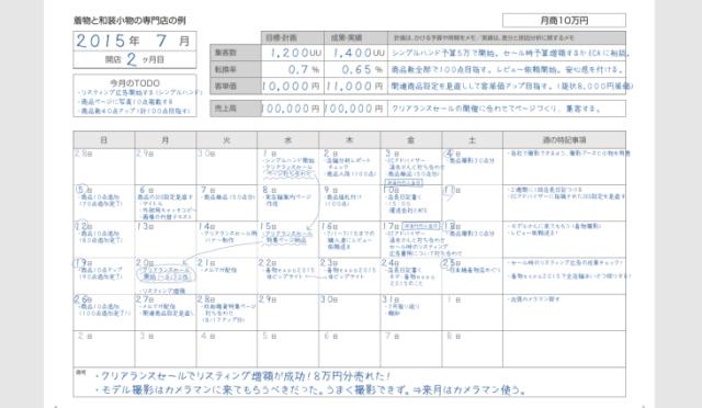 プラニングカレンダー