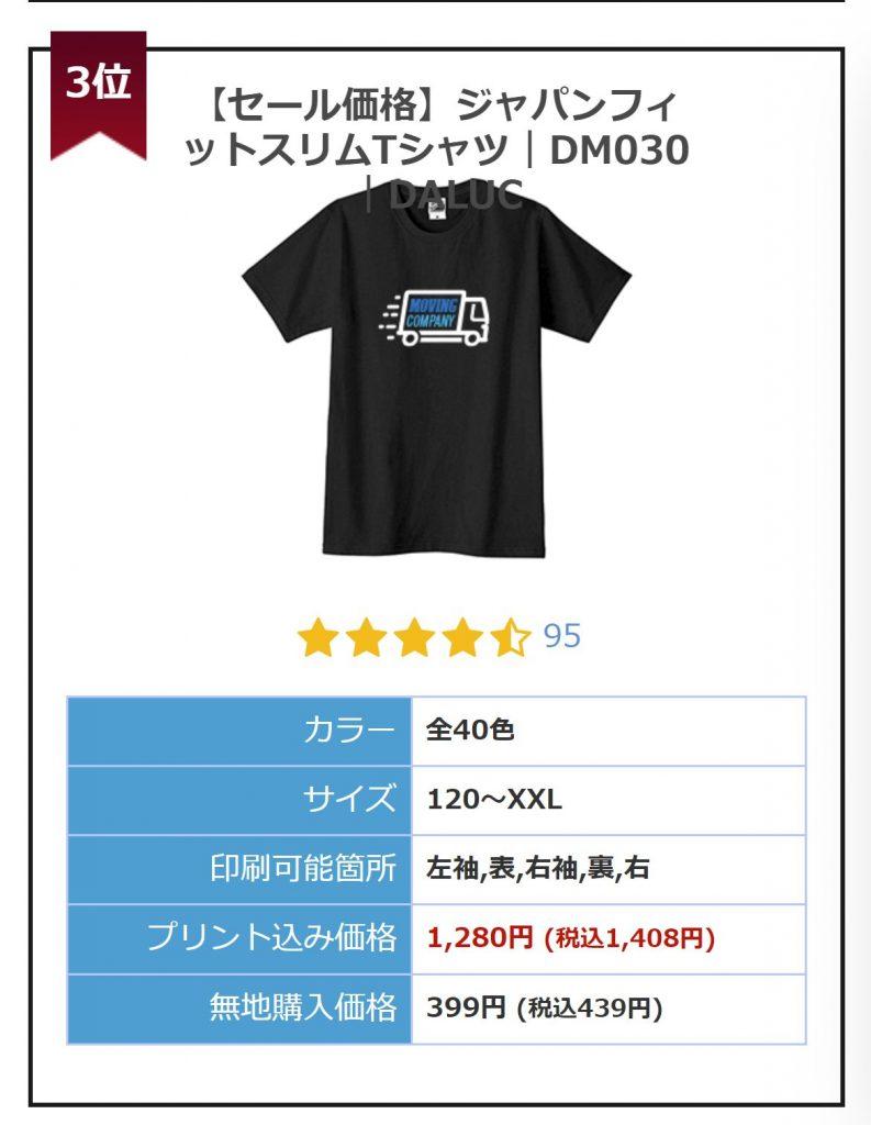 Up-TのTシャツ原価
